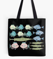 Atomic Fish Pattern Tote Bag