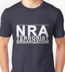 The NRA is a Terrorist Organzation - white Unisex T-Shirt