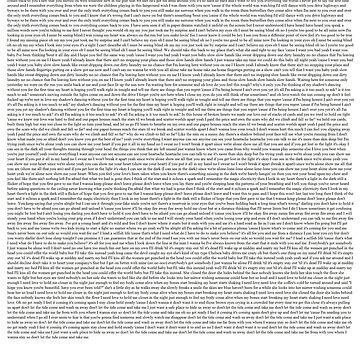 Every Lyric from Flicker by redmads21