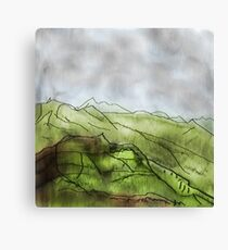 Colourful mountain Canvas Print