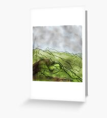 Colourful mountain Greeting Card