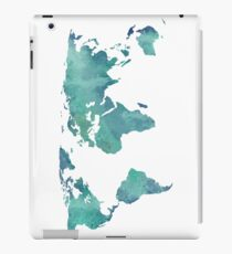 Watercolor map in turquoise  iPad Case/Skin