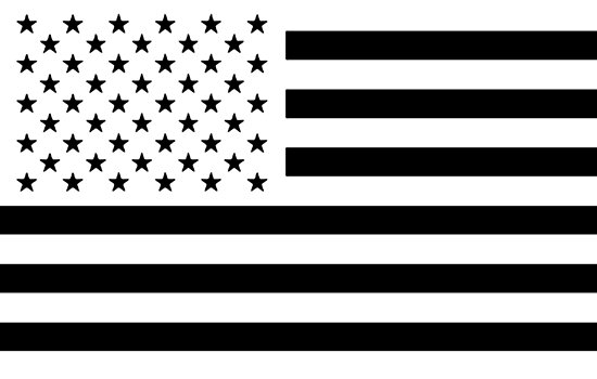 Black and White USA Flag by shabzdesigns