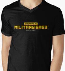 PUBG Dropping in Military Base Men's V-Neck T-Shirt