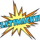 FLATSMACKED Stickers (Blue & Yellow) by GLOBEXIT