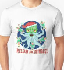 Funny Christmas Release the Kringle Santa Claus Kraken T-Shirt