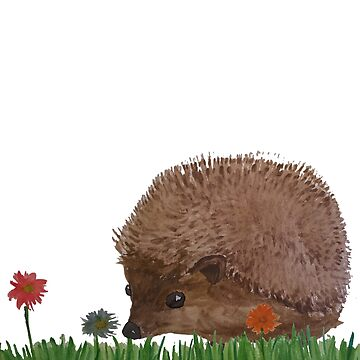 Hedgehog in a Meadow by ICannotDraw