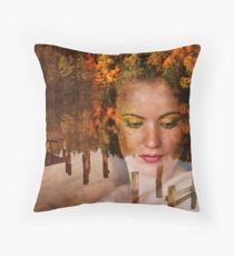 The Lady of lake Throw Pillow