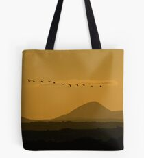 Geese over Derryveagh mountains at Twilight Tote Bag