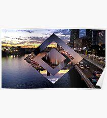 Beautiful Geometric Brisbane River Poster