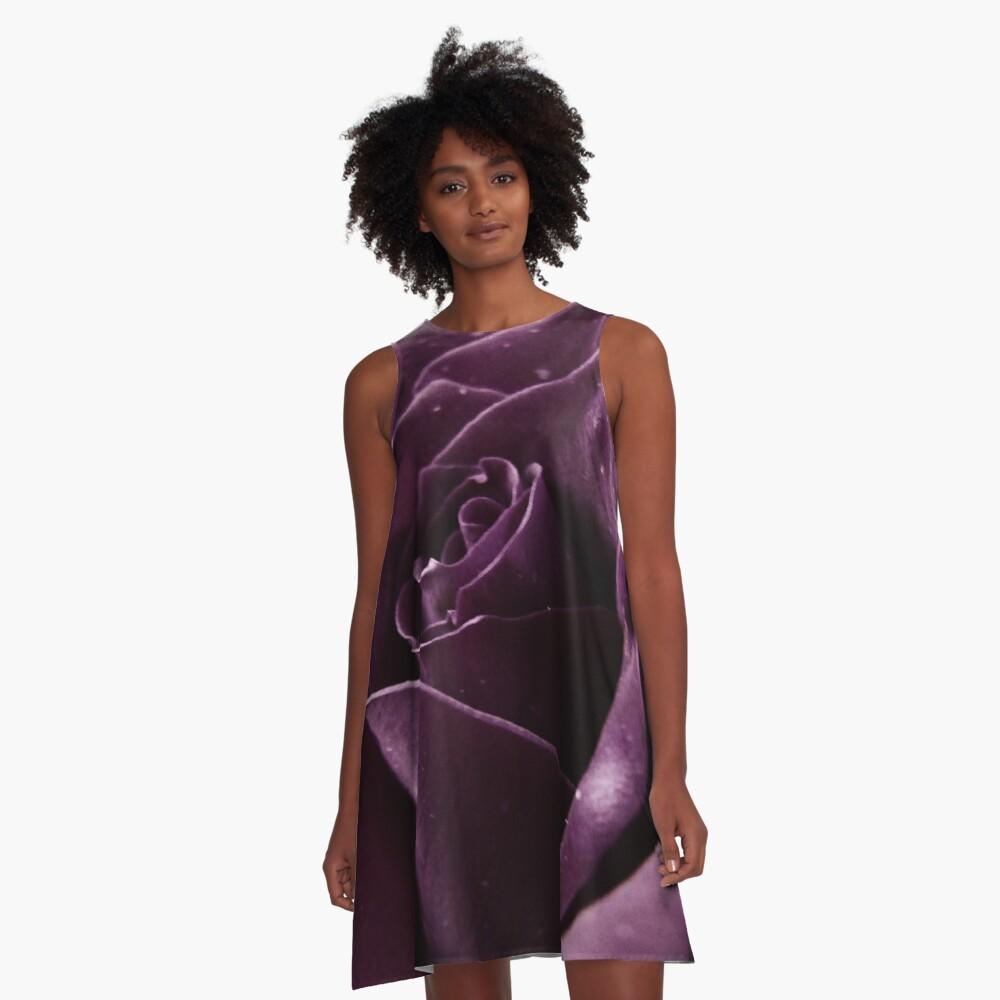 Purple Rose II A-Line Dress