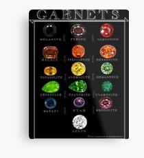 Garnets! Collection Metal Print