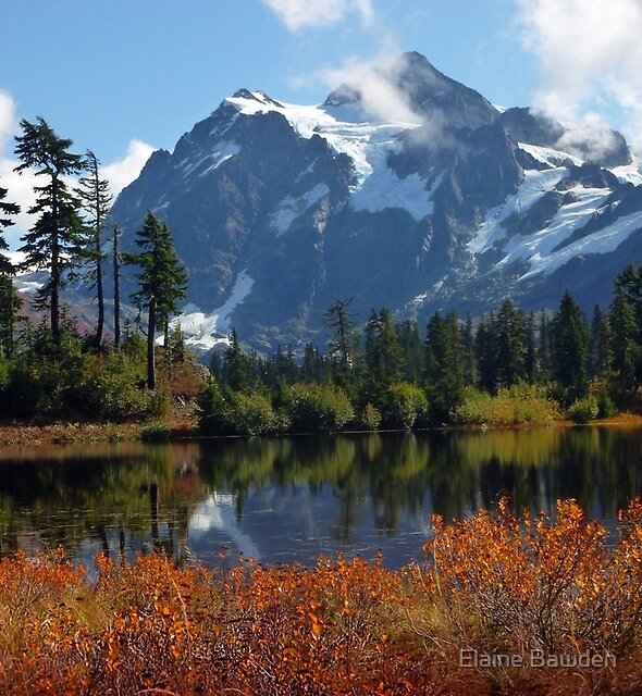 Autumn Mount Shuksan by Elaine Bawden