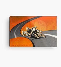 retro motorcycle Isle of Man TT poster Metal Print