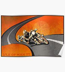 Retro- Motorrad Isle of Man TT Plakat Poster