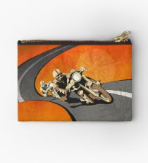 retro motorcycle Isle of Man TT poster Studio Pouch