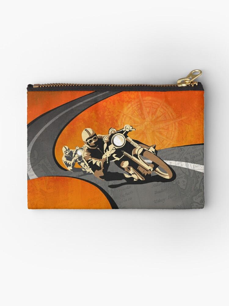 Retro- Motorrad Isle of Man TT Plakat von SFDesignstudio
