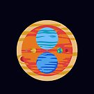 Our Rad Solar System (Overlapping) by jezkemp