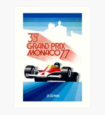 1977 Monaco Grand Prix Racing Poster Art Print