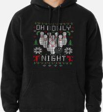Oh Bowly Night Bowling hässliches Weihnachtsstrickjacke-Shirt Hoodie