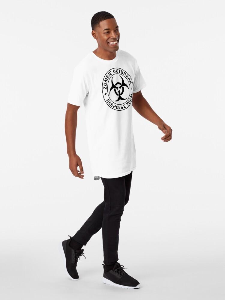 Vista alternativa de Camiseta larga EQUIPO DE RESPUESTA DEL ZOMBIE