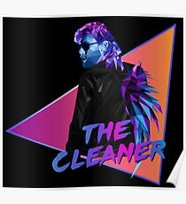 Kenny Omega. The Cleaner. Polygonal Poster