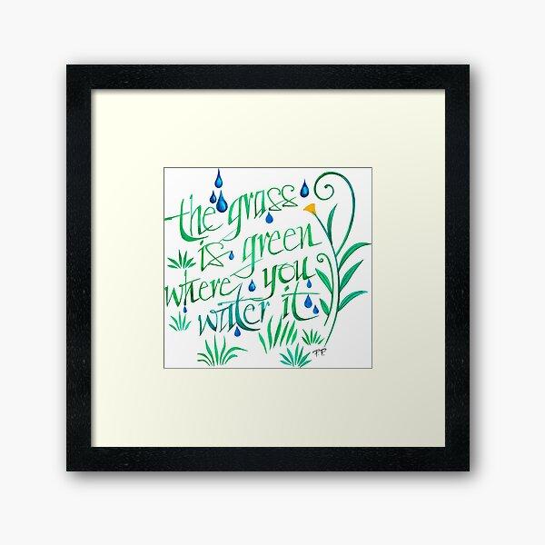 The Grass is Greener Framed Art Print