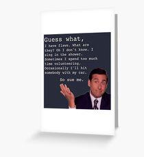 Michael Scott Quotes Greeting Card