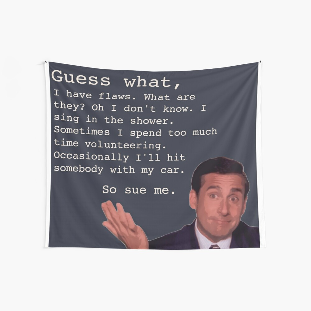 Michael Scott Quotes Wall Tapestry