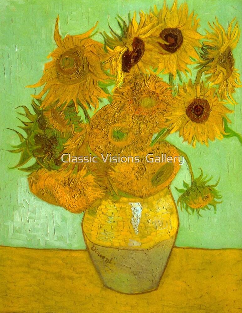 'Twelve Sunflowers' by Vincent Van Gogh (Reproduction) by Roz Abellera