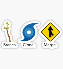 Git Commands: Branch, Clone,  Merge Sticker