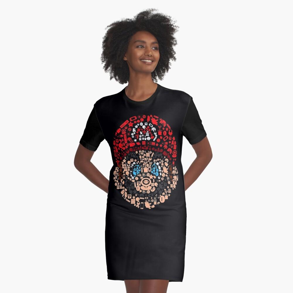 Mario Collage T-Shirt Kleid