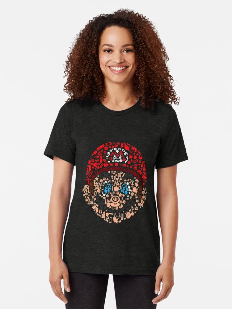Alternative Ansicht von Mario Collage Vintage T-Shirt