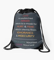 From Hate to Love Drawstring Bag