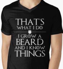 I Grow A Beard And I Know Things Men's V-Neck T-Shirt