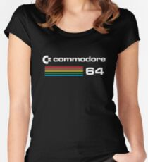 commodore - To entirely finish is water entering water. Women's Fitted Scoop T-Shirt