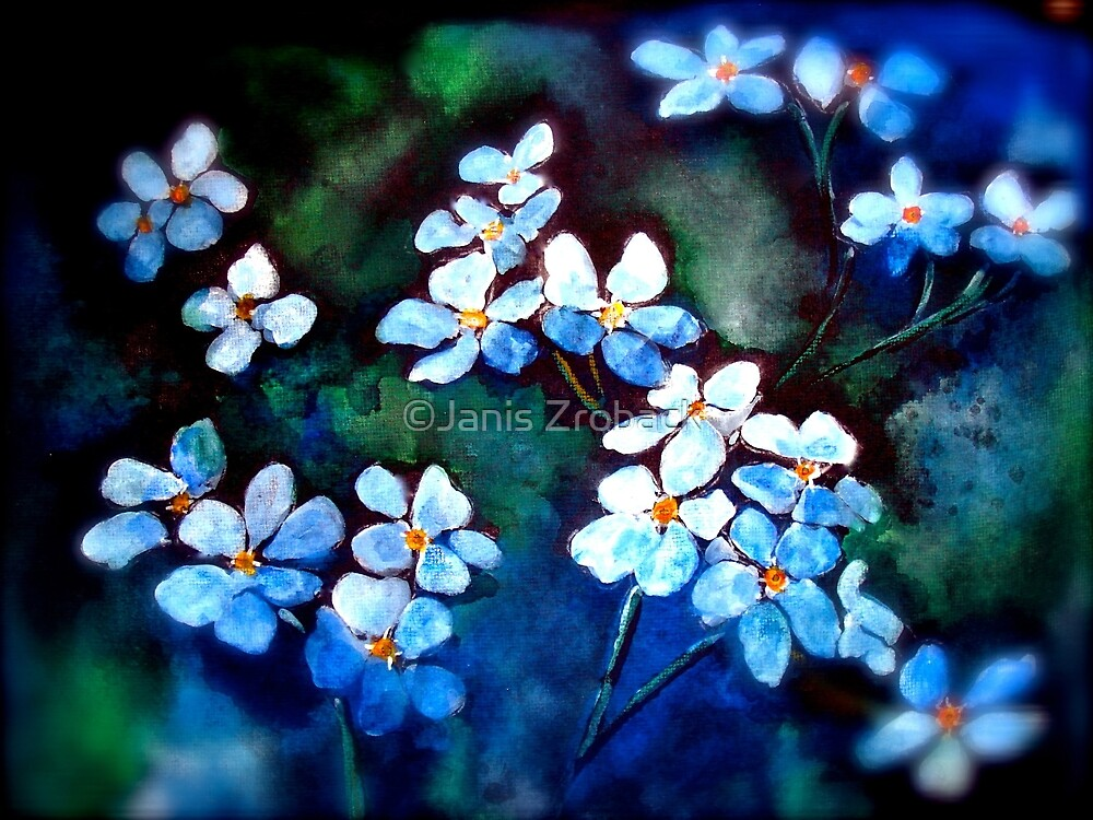 Infinite Meadows...Forget Me Not... by ©Janis Zroback