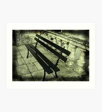 The lonely bench Art Print