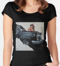 RHONDA feat. 1960 FB Holden Women's Fitted Scoop T-Shirt