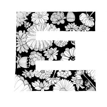 Floral E by whattodowith