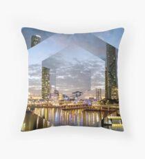 Beautiful Brisbane River Print - A Geometric Design Throw Pillow