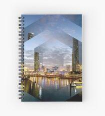 Beautiful Brisbane River Print - A Geometric Design Spiral Notebook
