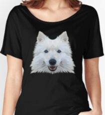 Samoyed Dog Low Poly Women's Relaxed Fit T-Shirt