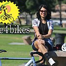 Live 4 Bikes Biker Chick Fixie Girl  by Live4Bikes