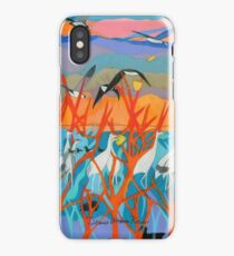 Nine Leaves in the Wind iPhone Case
