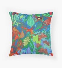 Five of Sacred Trees Throw Pillow
