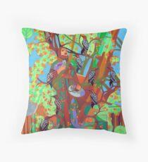 Apogee of an Apricot Tree Throw Pillow