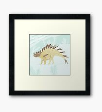 Kentrosaurus Framed Print