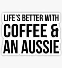 Coffee and an Aussie Sticker