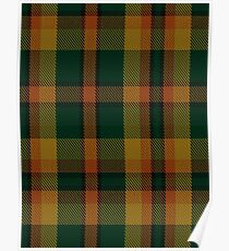 00336 Londonderry County District Tartan  Poster